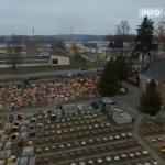 Starowiejski cmentarz z lotu drona