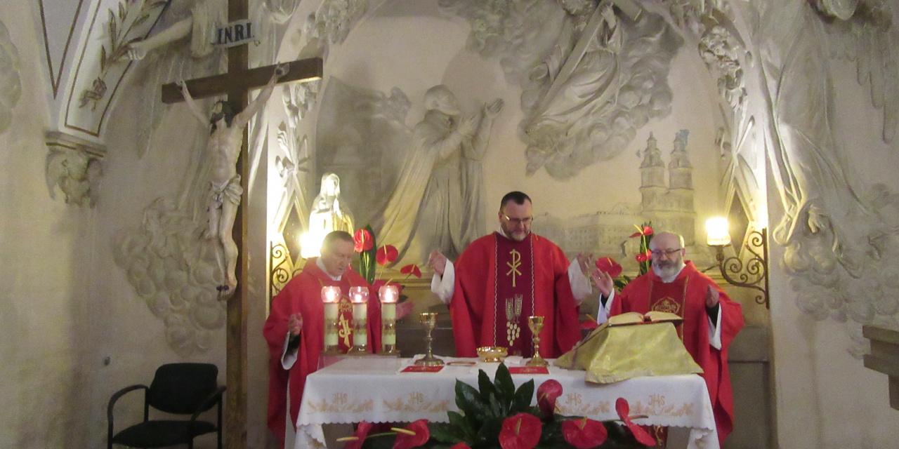 Eucharystia w kaplicy św. Andrzeja Boboli
