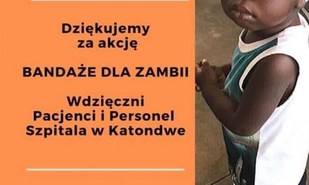 Bandaże dla Zambii – Podziękowanie