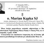 Zmarł o. Marian Kępka SJ