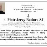 Zmarł o. Piotr Jerzy Badura SJ